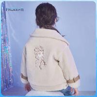 【今日4折�A估�r:127.3元】迪士尼女童�r尚羊羔�q外套洋��2020秋冬新款�����和�上衣棉服