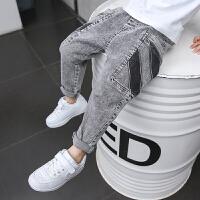 男童裤子春秋季宝宝儿童牛仔裤春装小脚长裤
