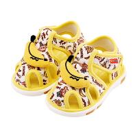 婴儿鞋女宝宝鞋子春秋男软底学步鞋春款不掉鞋叫叫鞋