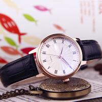 抖音同款手表女学生韩版简约防水表时尚潮流女士手表皮带情侣表