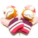 新款时尚潮流韩版保暖可爱毛线连指绒手套