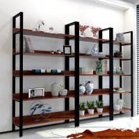 隔断书架置物架实木屏风落地展示书柜现代层架 落地多层架展示架展柜书架