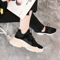 BANGDE2018秋季新品网红丑鞋女一脚蹬松糕厚底韩版百搭休闲运动潮