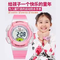 儿童手表女孩电子表防水 小学生运动电子手表女夜光多色