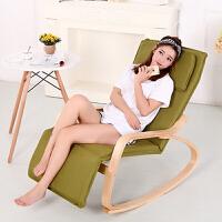 摇椅躺椅折叠午休逍遥椅阳台实木沙发布艺懒人午睡椅休闲椅子