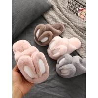 儿童棉拖鞋秋冬季女男童宝宝小孩防滑毛毛室内棉拖鞋亲子