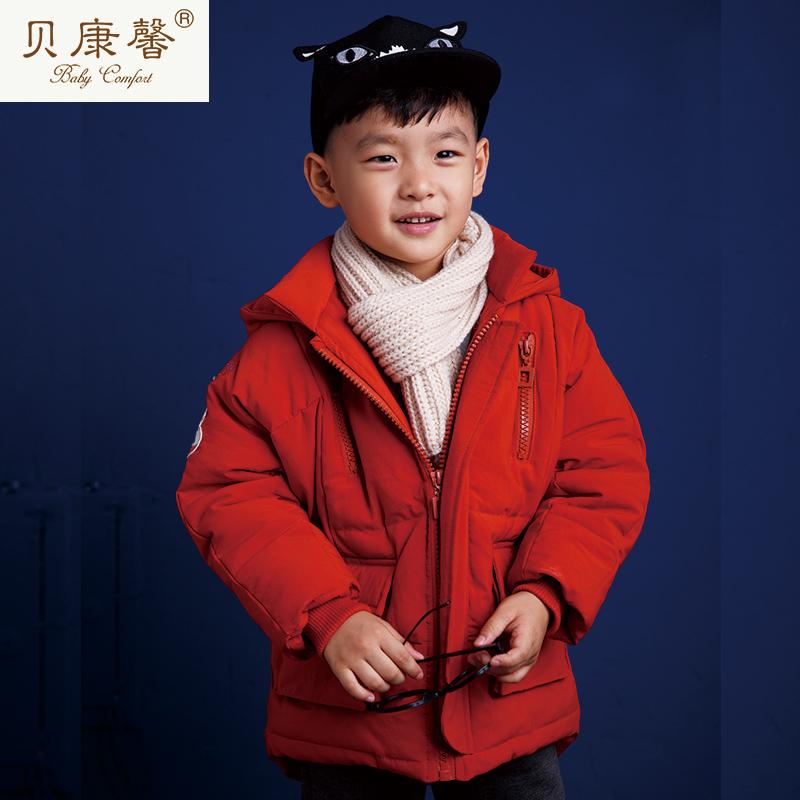 [当当自营]贝康馨冬装 男童羽绒棉拉链兜休闲保暖棉服 支持货到付款
