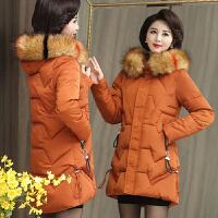 妈妈冬装外套洋气中长款加厚棉衣40-50岁中老年女装羽绒新款