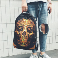 2019新款新款潮男双肩包韩版男士学生书包时尚潮流个性旅行电脑背包男 图片色