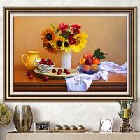 餐厅十字绣小幅花卉客厅简约现代钻石画满钻新款满绣十字绣饭厅