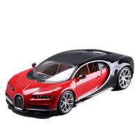 1 :18威龙车模型仿真合金跑车金属汽车模型 布加迪 红色