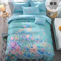 床品四件套棉床单被套1.8m床被子床上用品简约4件套k
