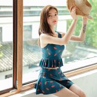 泳衣女分体裙式平角保守显瘦时尚新款韩国学生温泉聚拢性感游泳装