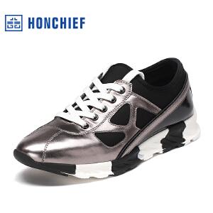 红蜻蜓旗下品牌 HONCHIEF  男鞋休闲鞋秋冬鞋子男板鞋KTA1014