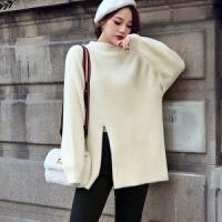 新年特惠2019秋冬新款套头半高领水毛衣女外套长袖宽松针织打底衫加厚 均码