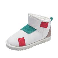 网红雪地靴女短筒女靴2018冬季韩版学生百搭平底加绒保暖防滑棉鞋