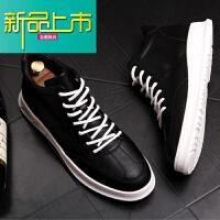 新品上市男鞋透气高帮小白鞋男士运动板鞋男潮鞋子男短靴厚底皮鞋