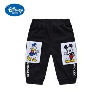 迪士尼童装男童米奇唐老鸭七分裤运动裤儿童夏装新款裤子外穿洋气