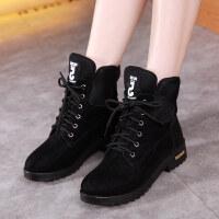 秋冬季新款马丁靴英伦雪地靴韩版短靴加绒棉鞋网红靴子学生女鞋