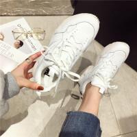 运动鞋19新款春季老爹鞋女真皮小白鞋厚底百搭运动鞋韩版学生女鞋