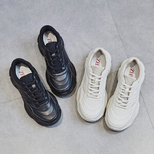 ZHR女鞋2019新款韩版智薰鞋超火网红运动鞋ins老爹鞋平底单鞋