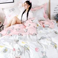 棉宿舍床单人床上用品3三件套男女大学生寝室1.2米0.9m套件y