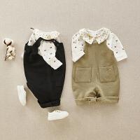 婴儿衣服春秋套装女宝宝春装女童春装洋气外出服抱衣