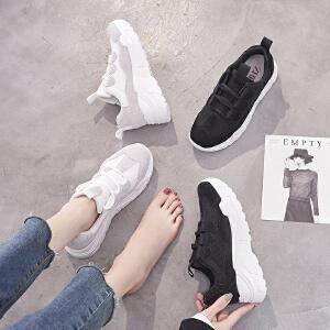 ZHR2019春季新款网红智熏鞋超火山本风老爹鞋平底运动鞋韩版女鞋