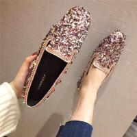 201902170256499972019春季新款韩版个性时尚百搭舒适潮流气质亮片简约平底女鞋子