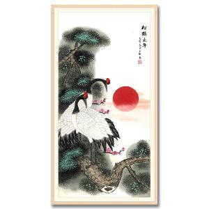 中国美术家协会会员、北京工笔重彩画会会员 耿玉轩《松鹤延年》DW107