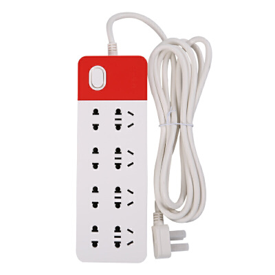 晨光(M&G)AEA98656 双排八组合孔总控电源插座插排插线板拖线板5米