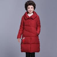 妈妈秋冬装外套女中长款棉衣棉袄女中老年女装新款加厚羽绒女