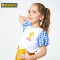 巴拉巴拉童装女童T恤小童宝宝短袖夏装2019新款韩版百搭上衣儿童