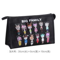 软妹化妆包大容量多功能简约便携小号韩国化妆袋品收纳包可爱少女
