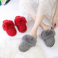 棉拖鞋女冬季室内居家可爱厚底情侣防滑家用韩版新款冬天男士