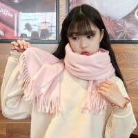 围巾女冬季韩版百搭红色仿羊绒学生日系软妹披肩两用围脖秋冬