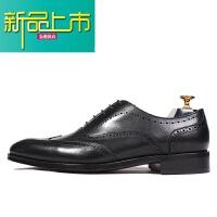 新品上市优0固异真皮底手工鞋意大利男鞋款式男士商务正装皮鞋 黑色