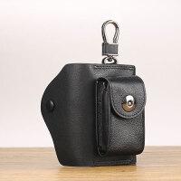原创设计 男士汽车钥匙包大容量多功能通用创意个性锁匙钥包 黑色