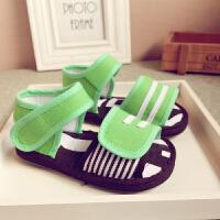双魔术贴夏季童鞋小童1-3岁男女宝宝儿童棉布凉鞋