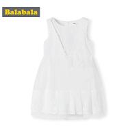 巴拉巴拉童装女童裙子儿童连衣裙夏季2019新款小童宝宝洋气网纱裙