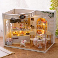 儿童创意生日礼物diy小屋恶作剧之吻蛋糕日记手工房子制作拼装模型