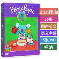 英文原版DVD蓝色小考拉Penelope 英语字幕 幼儿童启蒙早教动画片