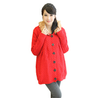 慈颜 孕妇装秋冬装新款孕妇毛衣上衣韩版大码长袖外套SMRJ607