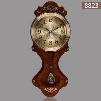 欧式摇摆时尚挂钟挂表客厅静音大钟表美式创意现代简约石英钟 20英寸以上