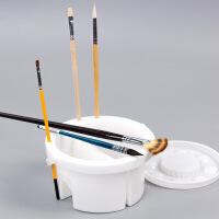 多功能手提式洗笔桶美术水桶水彩画画用水粉桶 洗笔筒水粉颜料小水桶绘画洗笔器颜料国画水桶