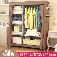 简易衣柜布艺布衣柜钢架单人衣橱组装双人收纳柜子简约现代经济型