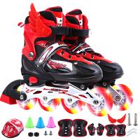 轮滑溜冰鞋儿童全套套装3-65可调大小8旱冰4男童12女童10岁