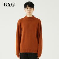 GXG男�b 秋季男士�r尚都市流行小高�I咖啡色套�^羊毛毛衫男
