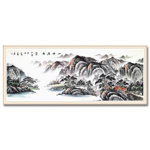 广州知名山水画家 万勇1.8米精品山水《山水清音》