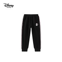 迪士尼女童时尚针织加绒长裤儿童运动长裤潮